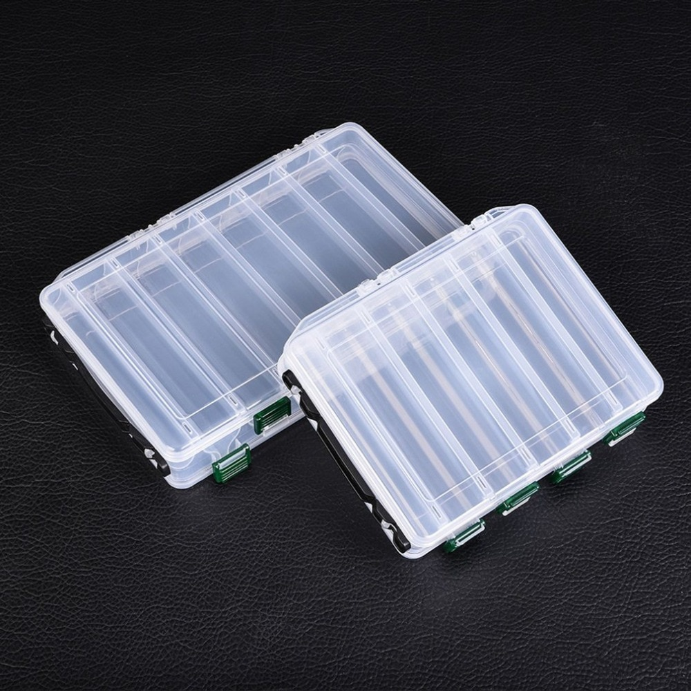 Caja de pesca accesorios aparejos señuelos cebo caja de almacenamiento cajas de camarón para aparejos de pesca cebos 10/14 compartimentos caja de señuelos
