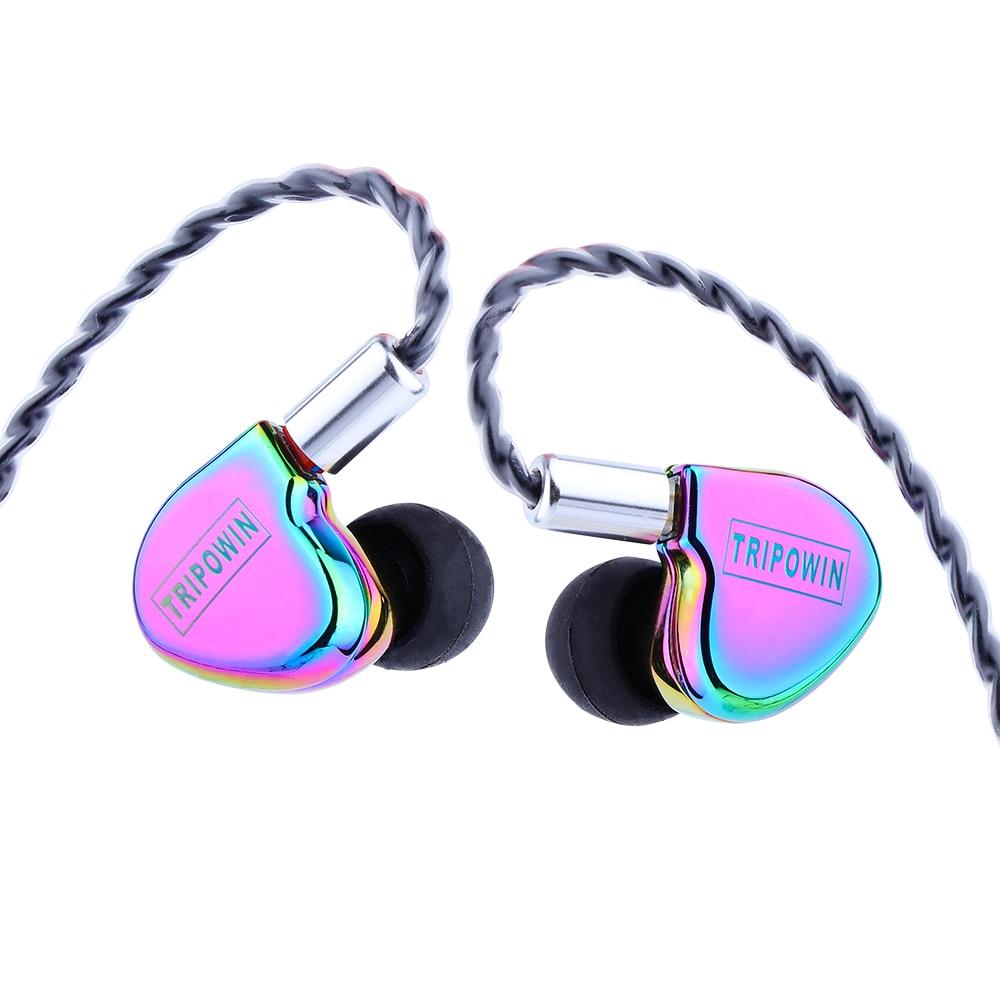 Tripowin TC-01 1DD 10mm Si+PU Driver HiFi In-ear Earphone with Metal Housing, Detachable 0.78mm 2Pin Cable enlarge
