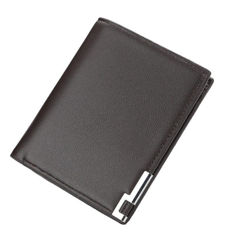 Klassische Männer Brieftasche Kurze Dünne Geldbörse Pu Leder Kreditkarte Halter Feste Luxus Geld Taschen Mann OL Kleine Casual Brieftasche für Männliche