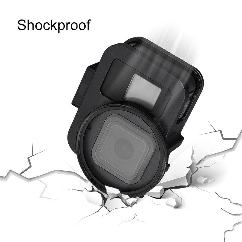 Accesorios de aluminio 60g funda Carcasa protectora para GoPro Hero7 6 5 cámara con 52mm UV lente Backdoor para Go Pro Hero 8