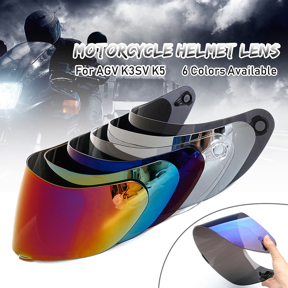 Motorcycle Visor Anti-scratch Wind Shield Helmet Lens Full Face Fit for AGV K3SV K5 Accessories