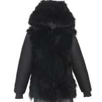 2021 new can match shell and fur collar real raccoon fur liner real raccoon fur plus size 7xl coat winter men parka