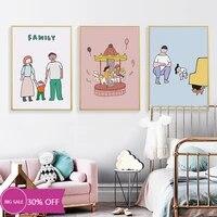 Toile de decoration de noel  affiches dart mural de famille douce  pour salon  decoration de maison