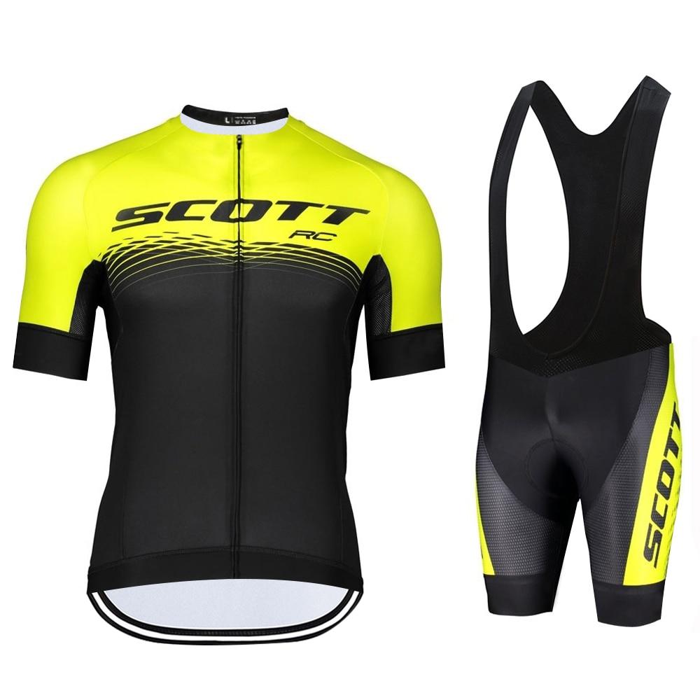 SCOTT-Conjunto de Ropa de Ciclismo para hombre, Maillot de manga corta para...