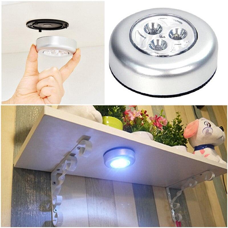 Luz Nocturna inalámbrica de 1/2/5/10 Uds., luz de techo táctil inalámbrica, autoadhesiva para espejo, lámpara para guardarropa de dormitorio y coche