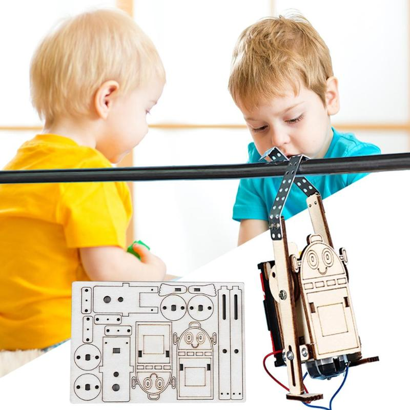 DIY Children Building Kits Robot Rope Climbing Model Kids Science Discovery Educational Experiments