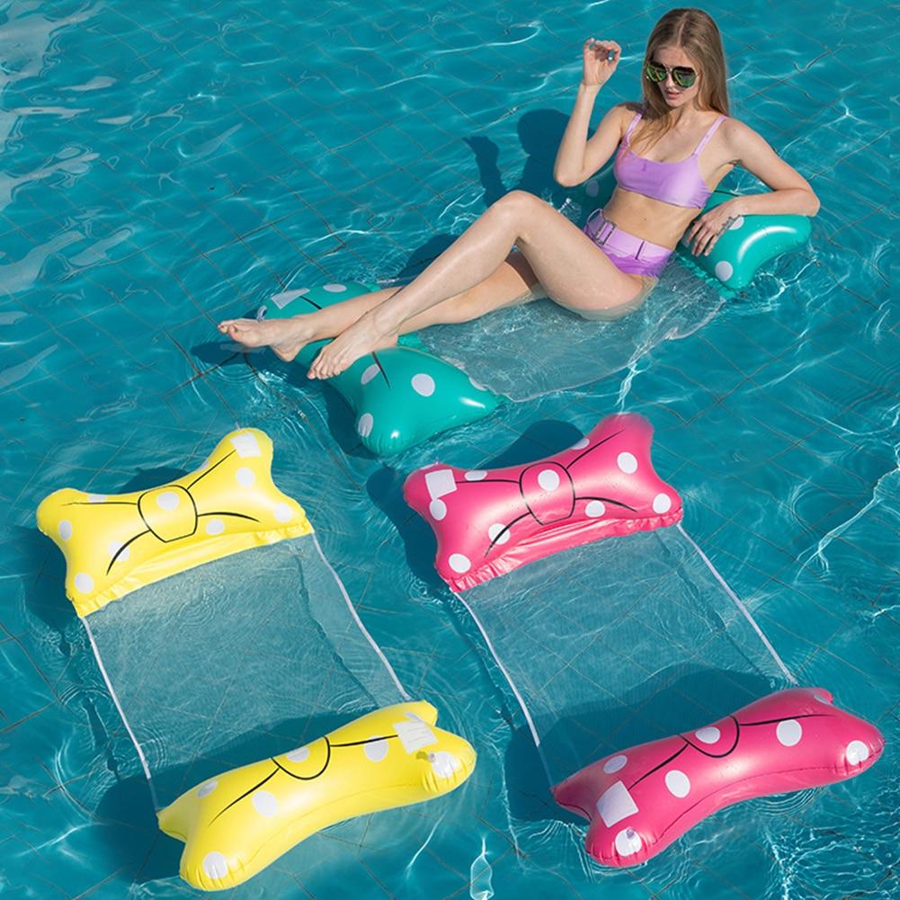 Летние надувные складные плавающие матрасы из ПВХ для бассейна, вечеринки, водный гамак, пляжные матрасы, шезлонг для водных видов спорта