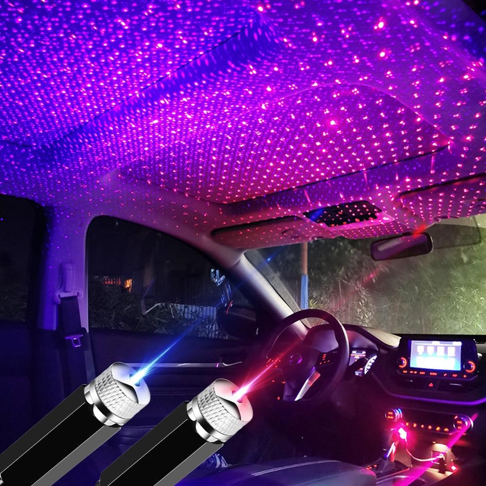 Teto do carro projetor led lâmpada decorativa atmosfera para nissan qashqai j10 j11 juke x trail t32 para honda civic crv abarth
