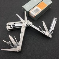 dc tools stainless steel keychain outdoor sports camping survival gadgets foldable mini nail clippers bottle opener set