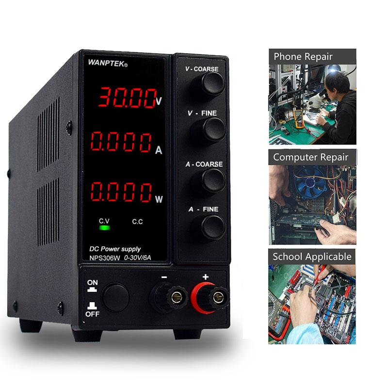مقاعد البدلاء dc امدادات الطاقة قابل للتعديل 30V 5A 6A أربعة أرقام lcd عرض متغير تحويل مصدر امدادات الطاقة ac 110v 220v 300w 360w