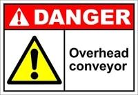 overhead conveyor danger oshaansi label vinyl decal sticker kit osha safety label compliance signs 8
