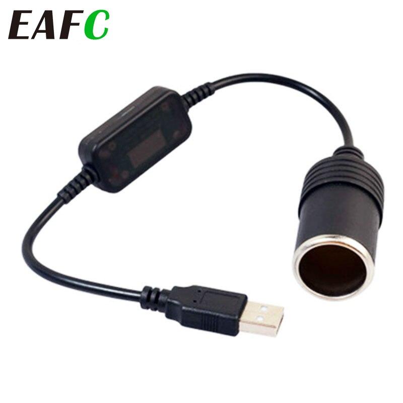 Новинка, 5 В, 2 А, USB штекер в 12 В, розетка для автомобильного прикуривателя, переходник, адаптер для автомобильного зарядного устройства DVR, электроника, автомобильные аксессуары Зажигалка      АлиЭкспресс