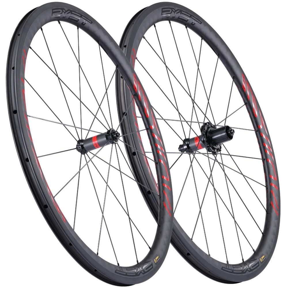 700C الطريق الكربون العجلات 35 مللي متر 40 مللي متر 45 مللي متر 50 مللي متر الكربون دراجة عجلات الفاصلة الطريق الدراجة عجلات WHEELSETS RYET