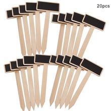 Pack von 20 stücke Mini Holz Tafel Memo Nachricht Bord Zeichen für Home Küche Garten