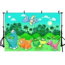 Fotografie hintergrund Bunte dinosaurier party kinder geburtstag fotografische custom banner hintergrund foto studio photo