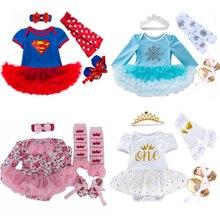 Robe de noël Elsa pour petites filles   Ensemble de 4 pièces de vêtements pour bébés filles, Costume Superman Batman, cadeau de noël, 2020