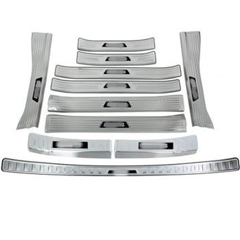 Нержавеющая сталь Задний бампер протектор порога Накладка/порог дверь порог Порог автомобиль-Стайлинг для Toyota RAV4 2020