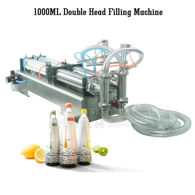 SHENLIN Piston filling machine pneumatic liquid bottle filler 100-1000ml perfume filler food water lotion filling machine SS304
