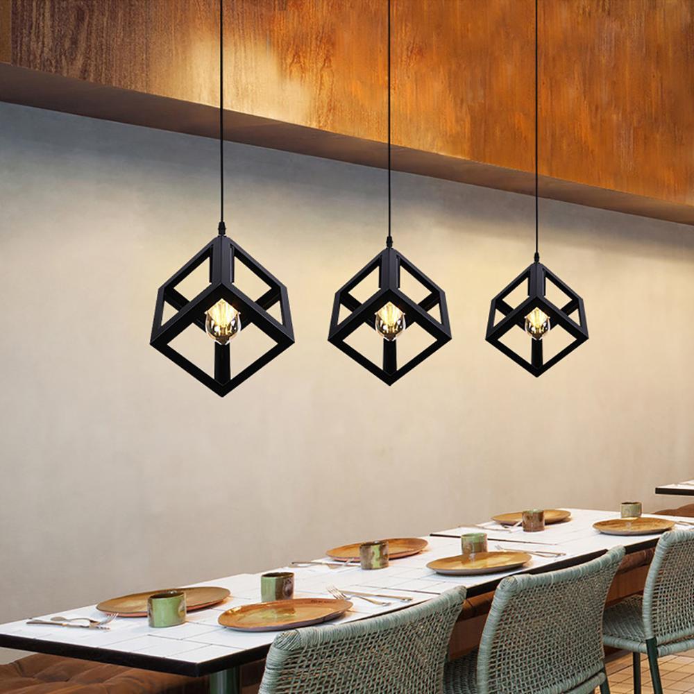 E27 abajur абажур lámpara Vintage Retro LOFT estilo arte Metal restaurante Cafe lámpara pantalla klosz 32
