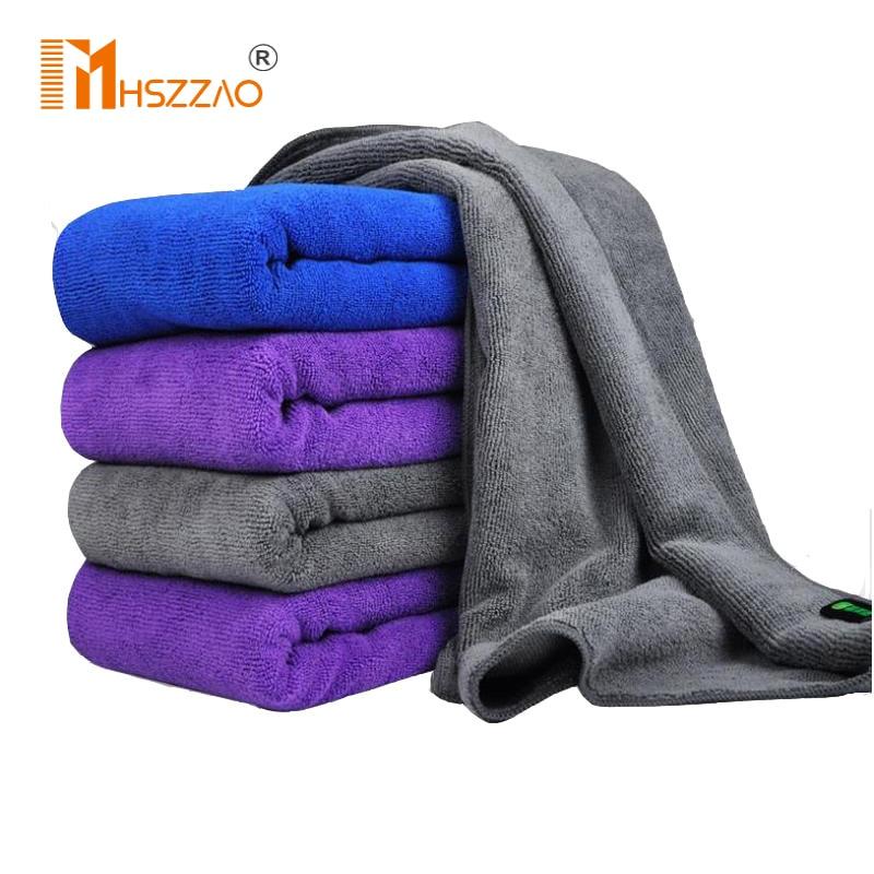 Полотенце из микрофибры 30x70 см, салфетка для мойки автомобилей, ухода за автомобилем, синее фиолетовое/серое полотенце мойк...