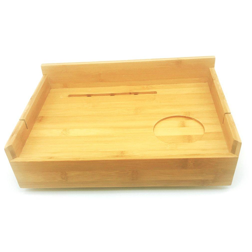 Mesa de noche creativa de madera de bambú para niños mesa pequeña de colocación de residuos bolsa de almacenamiento de cabecera de cama de Bambú