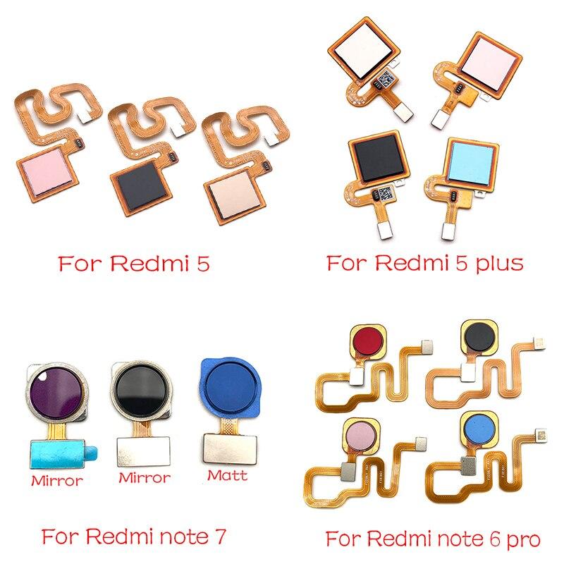 New Fingerprint Sensor Scanner Touch ID Connecter Flex Cable For Xiaomi Redmi Note 6 7 Pro / Redmi 5 Plus