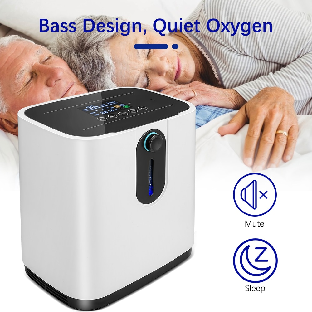 1 6l min portable oxygen concentrator home travel use generator no battery air purifier for home with handle 24 hours working Oxygen Concentrator Machine Oxygen Making Machine Generator Without Battery Air Purifier AC 220V/110V for Elderly Home Travel Us