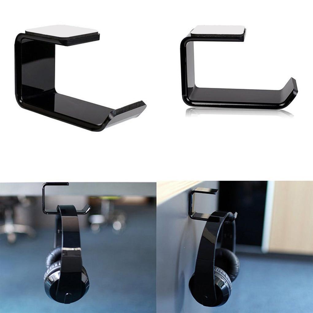 Headphone Bracket Hanger Under Desk Wall Mounted Headset Holder Hook Earphone Display Stand