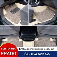 for toyota prado wire mat full encirclement car mat silk loop leather interior refit accessories double wire loop 7 pieces