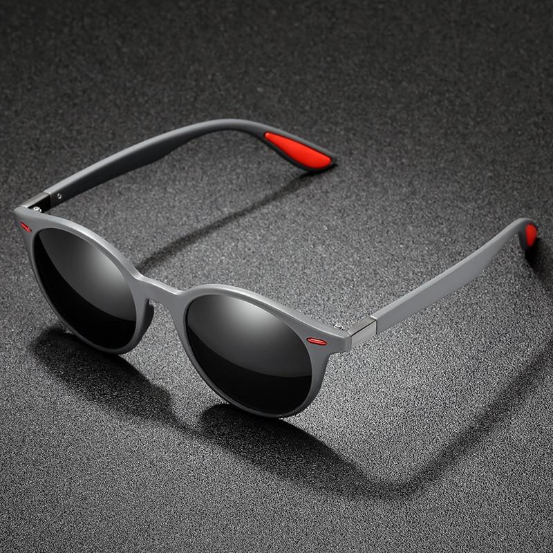 Солнцезащитные очки поляризационные унисекс, винтажные круглые солнечные очки от известного бренда, солнцезащитные очки Polaroid в ретро стил...