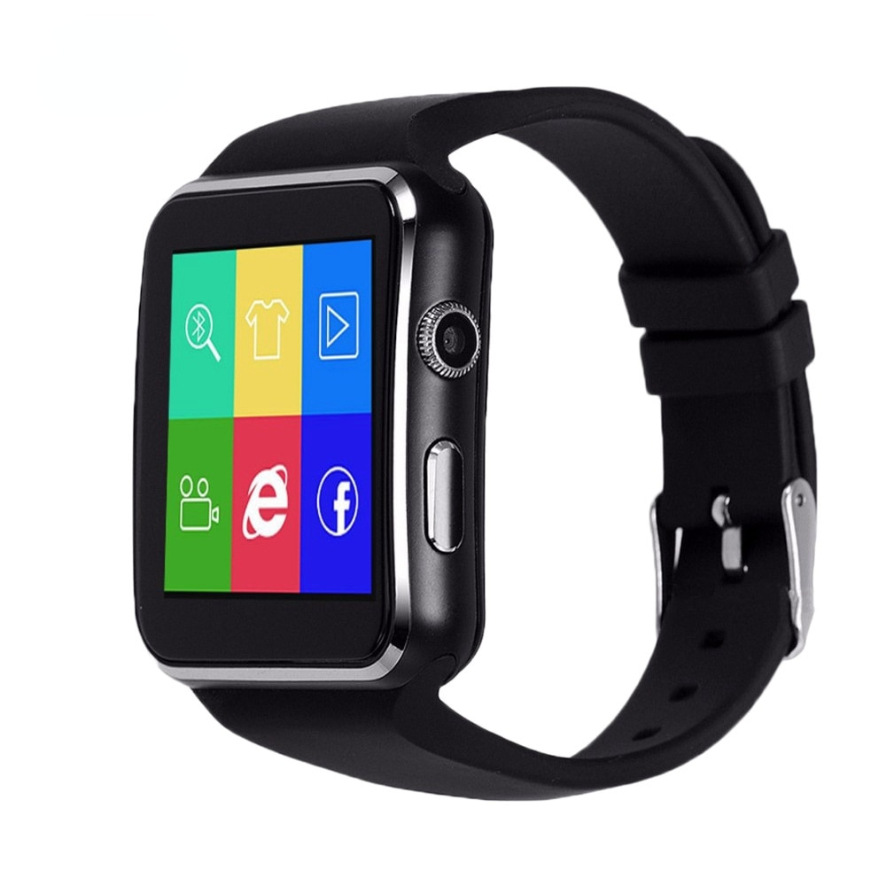 Smart Watch Men X6 Curved Screen Music Camera Facebook WhatsApp Support SIM TF Card Call Women Smartwatch For Android Phone