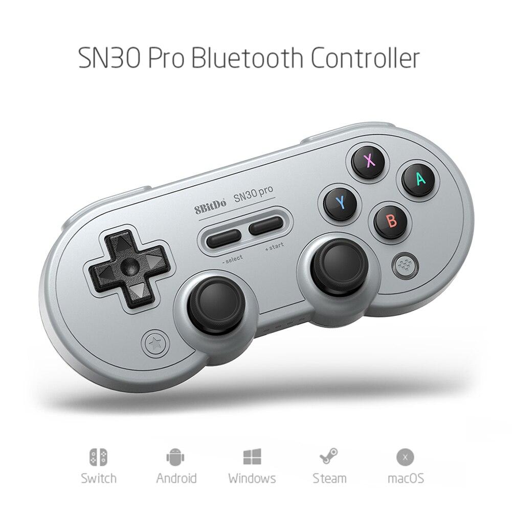 2021 8bitdo SN30 Pro سماعة لاسلكية تعمل بالبلوتوث متوافق مع تحكم غمبد الاهتزاز لنظام أندرويد ويندوز التبديل الرياح الكمبيوتر MacOS البخار