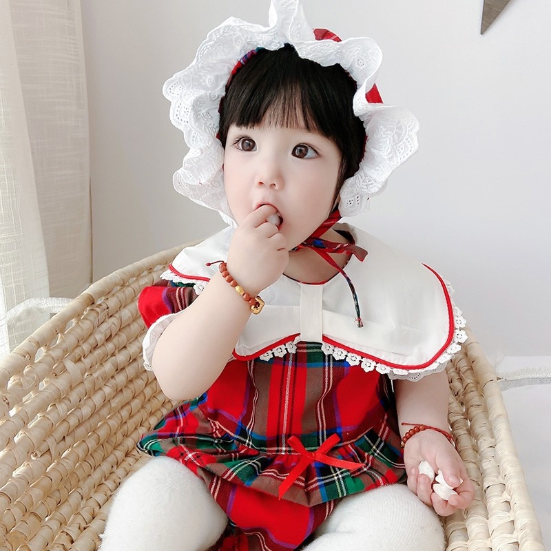 2021 Children's Clothing New Plaid Newborn Clothes In Spring And Summer