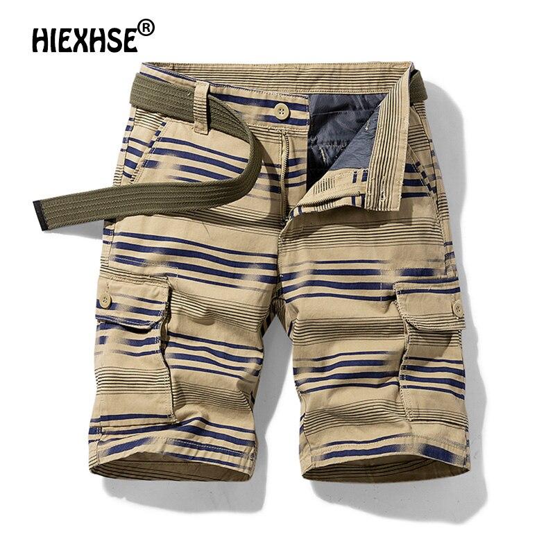 Summer 2021 Mens Loose Multi-Pocket Safari Style Shorts Men's Pure Cotton Street Fashion Harajuku Men Tactical Shorts Size 27-36