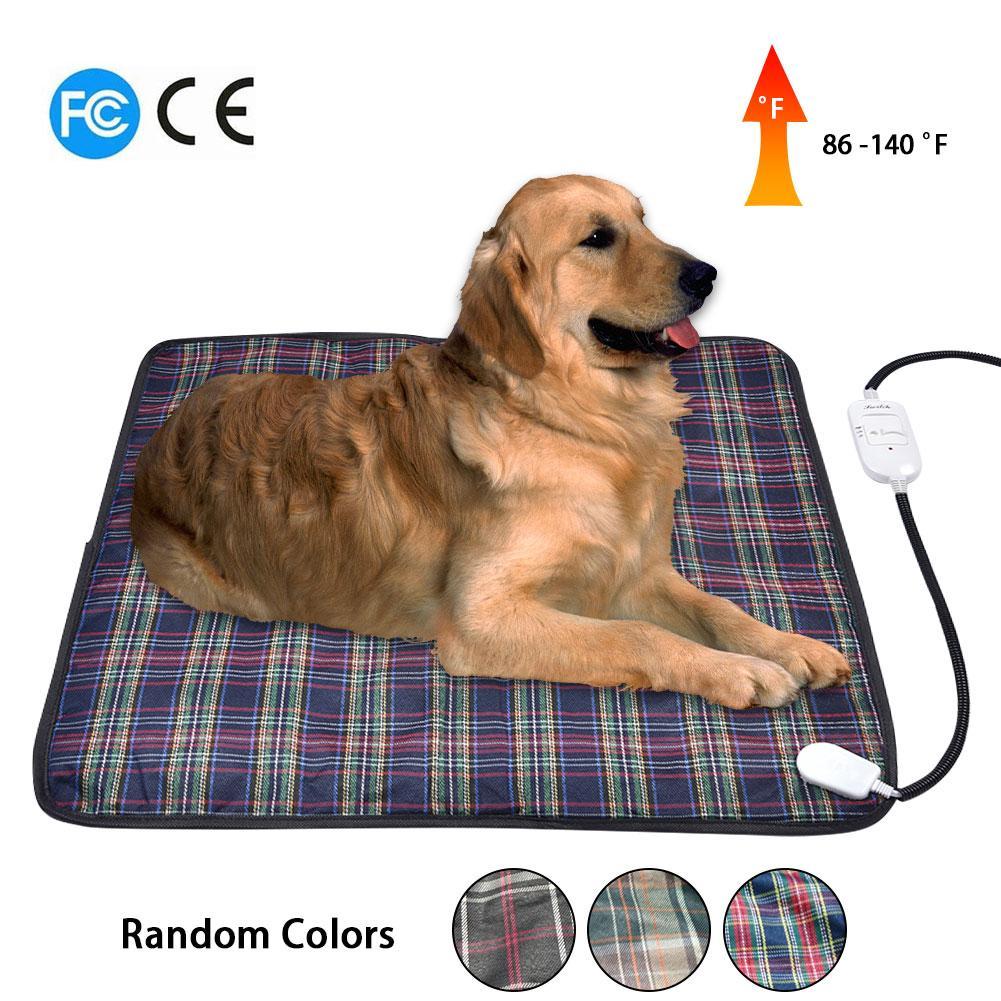 Almohadilla de calor eléctrica colorida caliente del gatito del animal doméstico 220V 18W almohadilla del calentador del conejito del gato del animal doméstico manta para la cama almohadilla térmica de 60x60CM