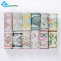 Autocollant de bordure auto-adhesif en PVC  Film decoratif de taille pour chambre denfant  papier peint impermeable pour carrelage de cuisine et salle de bains