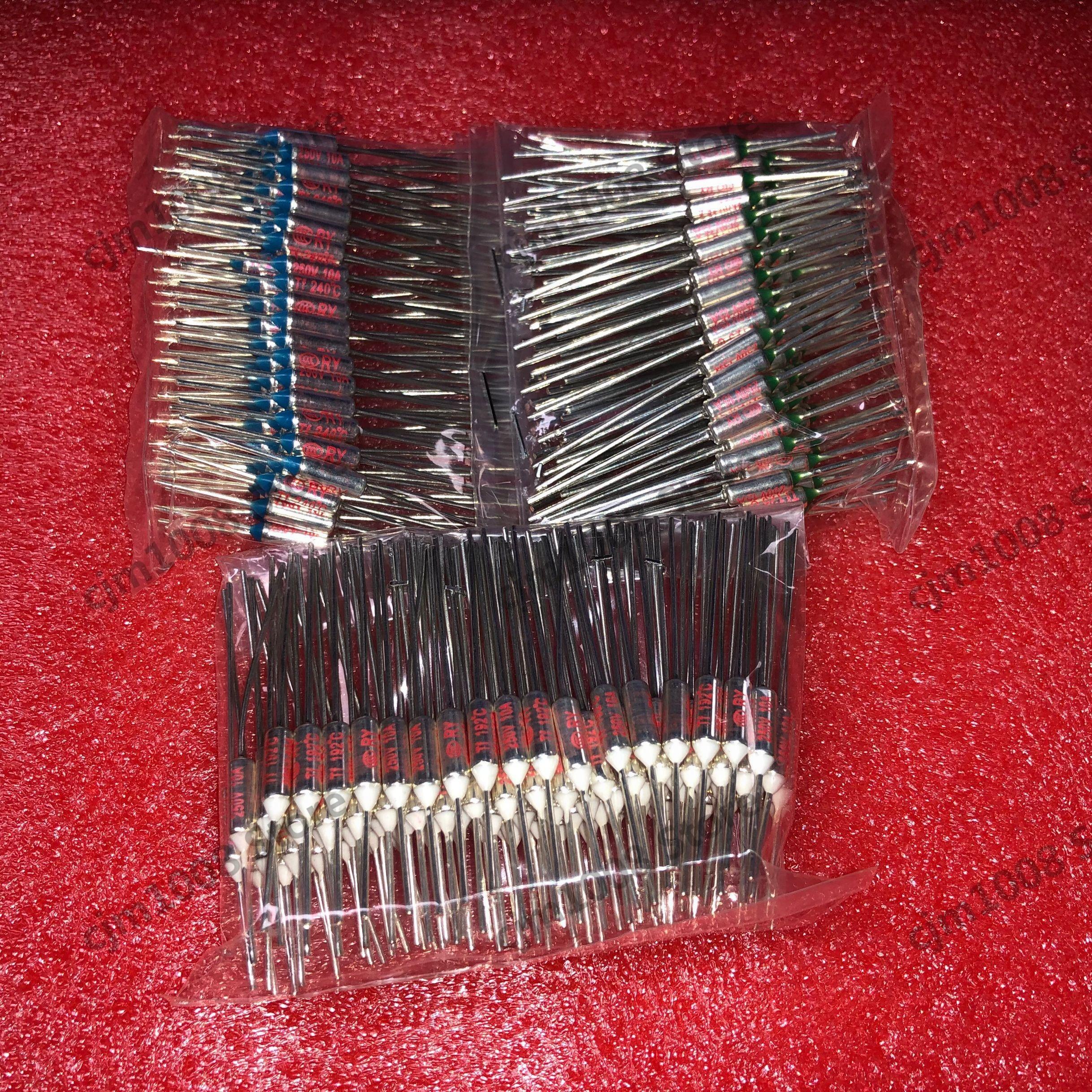 10 pçs/lote novo micro fusível térmico 10a 250 v ry 80 graus tf 80 c mini temp fusível metal escudo corte térmico