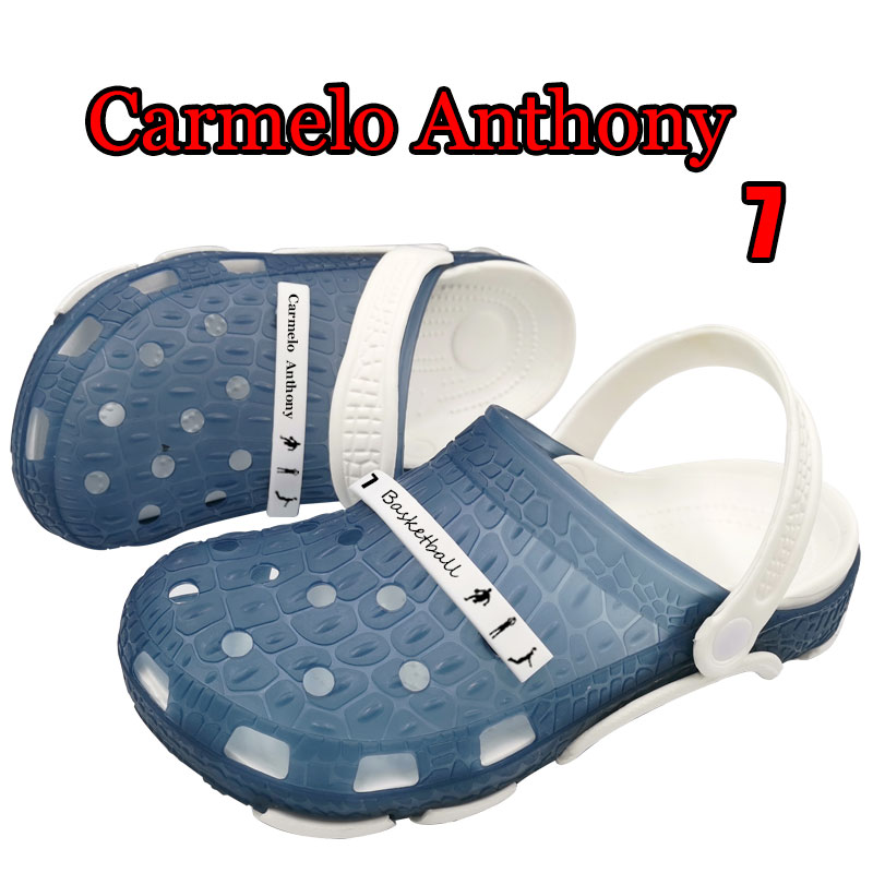 Crocse Adidase Carmelo Anthony 7 Sandalias de los hombres Union Casual Mmassage zapatos Buty Sandalias Croks Sandales Homme Erkek calzado