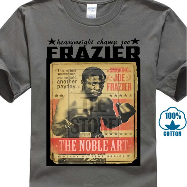 Boxer T camisa Muhammad Ali, Cassius Clay del George Foreman del Joe Frazier.