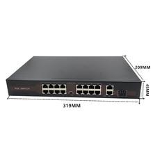 48V  Ethernet  POE switch  with 16 port 10/100Mbps Port IEEE 802.3 af/at Suitable for IP camera/Wireless AP/CCTV camera system