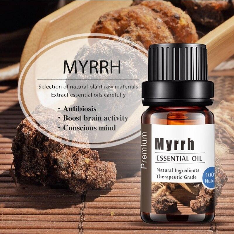 Чистый натуральный Мирра Ароматерапия Эфирные масла анти-стресс аромат Diff использовать r масло хорошее использование