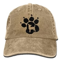 2020 best selling vintage adult sport baseball cap chihuahua dog pet paw print adjustable denim cowboy hat for men women
