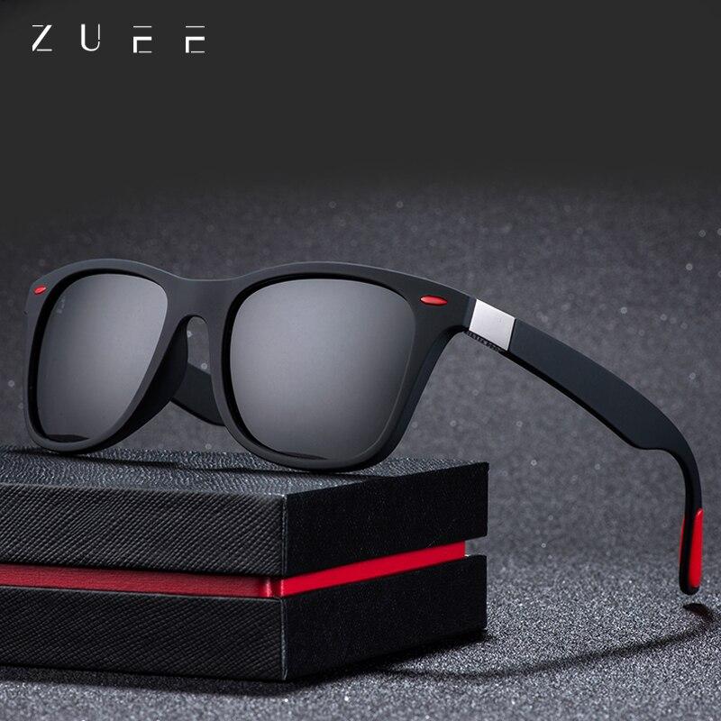 ZUEE Classic Polarized Sunglasses Driving Square Frame Sun Glasses Men Women Male Goggle UV400 Gafas