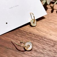 xiyanike 2020 creative personality fashion golden earrings korean earrings small round pendant women holiday gift jewelry