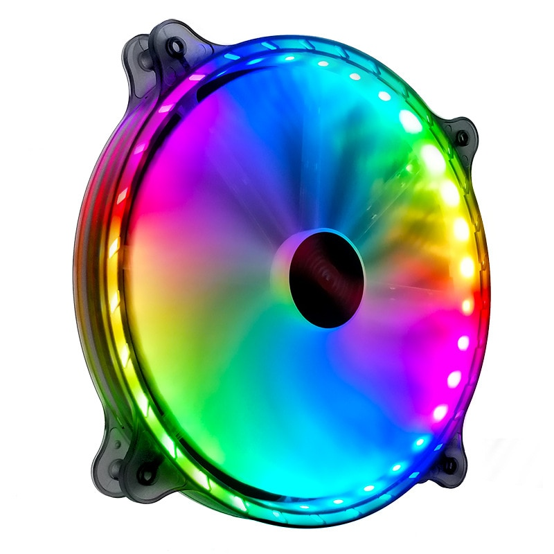Фото - COOLMOON 200mm RGB Silent Cooling Fan PC Computer Case Cooler 6PIN Quiet Adjust 20cm Radiator 5V Ventilador Chassis Heatsink coolmoon rgb controller 4pin pwm 5v 3pin argb cooling fan smart intelligent remote control for pc case chassis