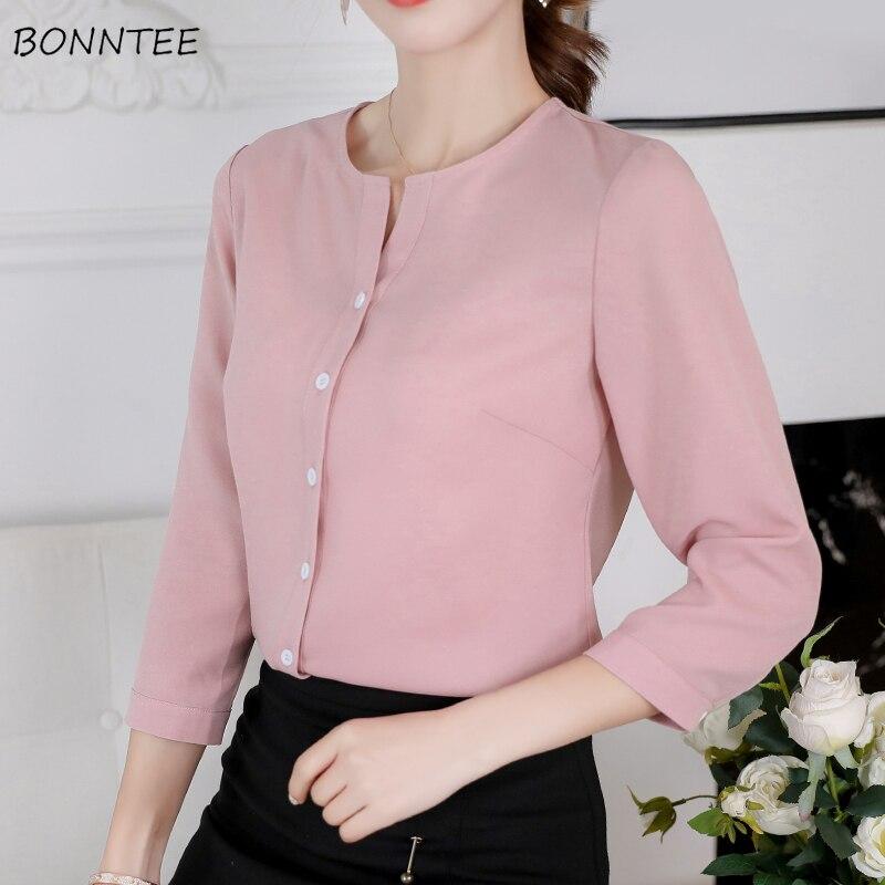 Shirts Frauen Oversize Einreiher Chic Elegante Süße Kleidung Frauen Solid Hemd Chiffon Weichen Hohe Qualität Blusen Damen Top