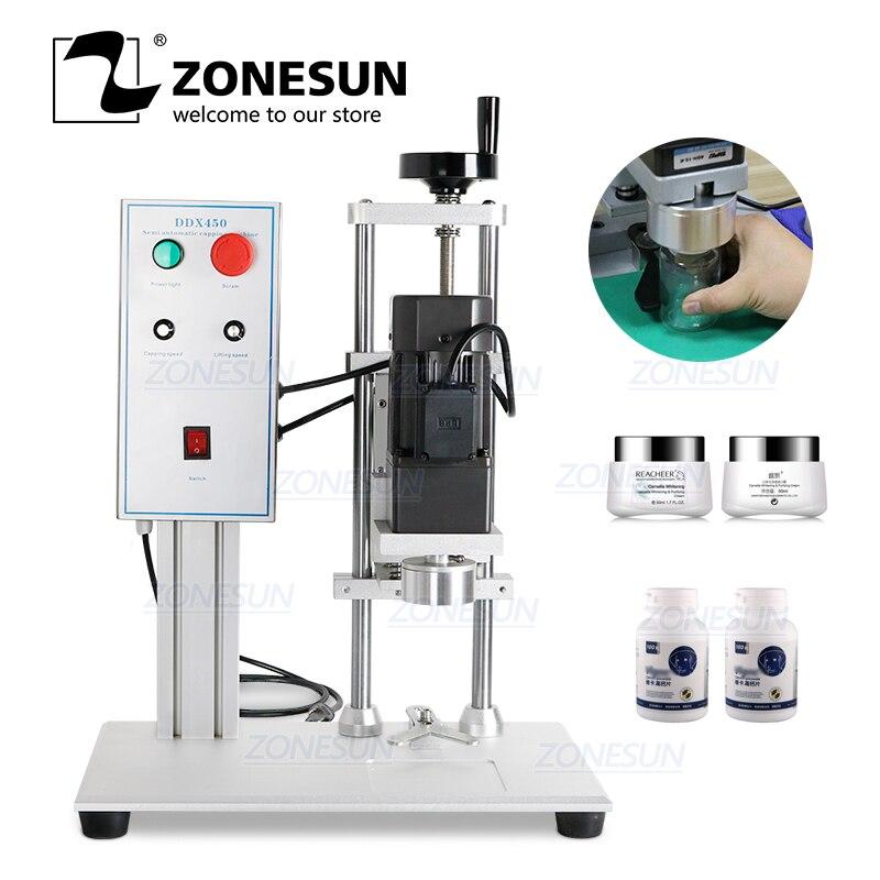 ZONESUN-آلة كهربائية لسطح المكتب للزجاجات الزجاجية البلاستيكية ، مع حلقة أمان
