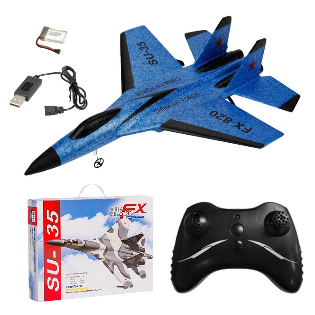 2.4G Glider RC drone SU35 Fixed Wing Airplane Hand Throwing Rechargeable Airplane Electric Remote Control RC Plane Toys enlarge
