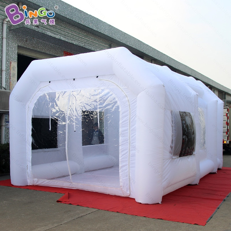 تخصيص 6x4x3 متر الأبيض نفخ طلاء السيارات خيمة/19.7x13x9.8ft الهواء في مهب رذاذ كشك للخارجية-BG-A0830X