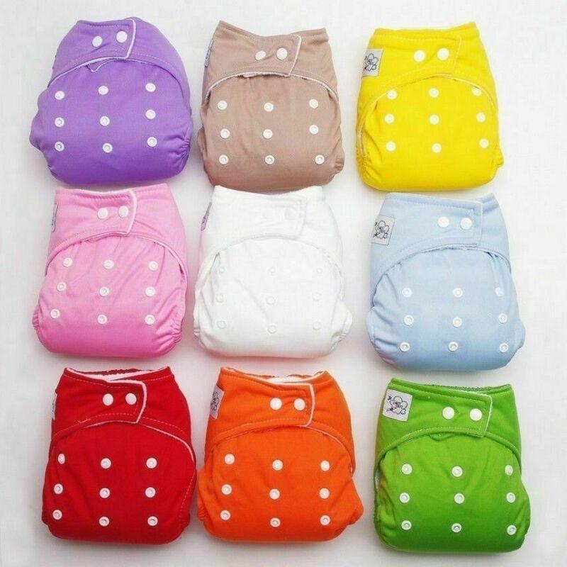 Регулируемые Многоразовые детские подгузники для маленьких мальчиков и девочек, тканевые подгузники, мягкие чехлы, моющиеся подгузники, Прямая поставка